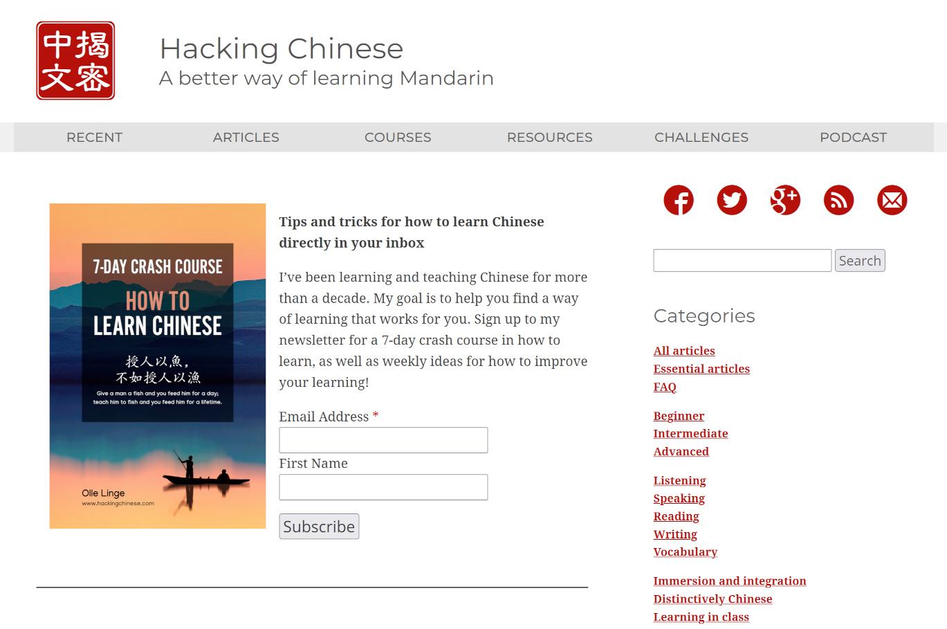 Custom Wordpress development for Hacking Chinese